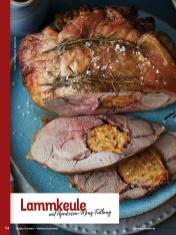 Rezept - Lammkeule mit Aprikosen-Minz-Füllung - Simply Kochen Weihnachts-Menü – 05/2019