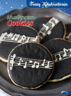 Rezept - Musiknoten-Cookies - Simply Backen Sonderheft Weihnachtsbacken mit Janet & Jasmin 01/2019