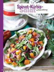 Rezept - Spinat-Kürbis-Salat mit Kokosdressing - Simply Kochen Weihnachts-Menü – 05/2019