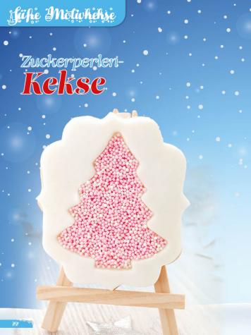 Rezept - Zuckerperlen-Kekse - Simply Backen Sonderheft Weihnachtsbacken mit Janet & Jasmin 01/2019