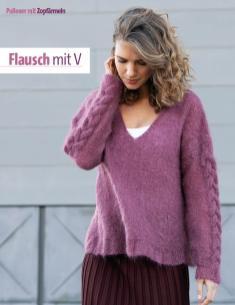 Strickanleitung - Flausch mit V - Fantastische Winter-Strickideen 06/2019
