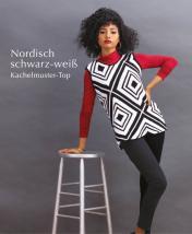 Strickanleitung - Nordisch schwarz-weiß - Kachelmuster-Top - Designer Knitting 06/2019