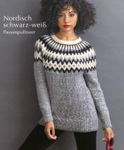 Strickanleitung - Nordisch schwarz-weiß - Passenpullover - Designer Knitting 06/2019