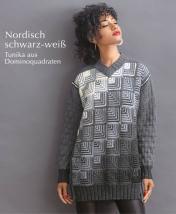 Strickanleitung - Nordisch schwarz-weiß - Tunika aus Dominoquadraten - Designer Knitting 06/2019