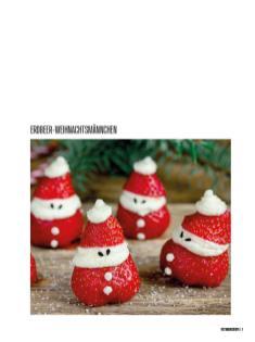 Rezept - Erdbeer-Weihnachtsmännchen - Bewusst Low Carb – 01/2020