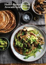 Rezept - Hafer-Pancakes mit Avocado und Pilzen - Vegan Food & Living – 01/2020