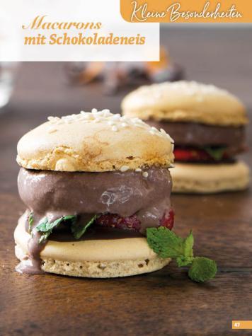 Rezept - Macarons mit Schokoladeneis - Simply Backen Fingerfood – 05/2019