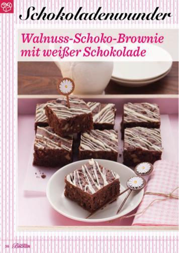 Rezept - Walnuss-Schoko-Brownie mit weißer Schokolade - Das große Backen 01/2020
