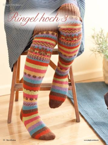 Strickanleitung - Ringel hoch 3 - Best of Simply Stricken Socken 02/2019