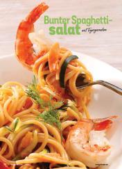 Rezept - Bunter Spaghetti-Salat mit Tigergarnelen - Simply Kochen Sonderheft Best of Salate