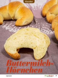 Rezept - Buttermilch-Hörnchen - Besser Backen mit Tommy Weinz – Brötchen