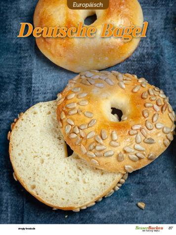 Rezept - Deutsche Bagel - Besser Backen mit Tommy Weinz – Brötchen