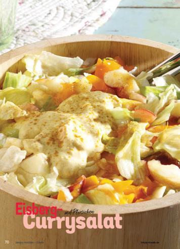 Rezept - Eisberg-Currysalat mit Pfirsichen - Simply Kochen Sonderheft Best of Salate