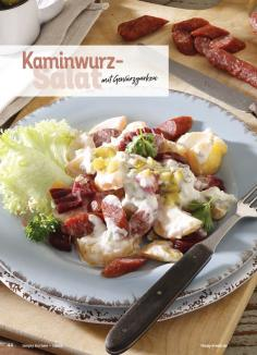 Rezept - Kaminwurz-Salat mit Gewürzgurken - Simply Kochen Sonderheft Best of Salate