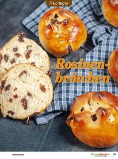 Rezept - Rosinenbrötchen - Besser Backen mit Tommy Weinz – Brötchen