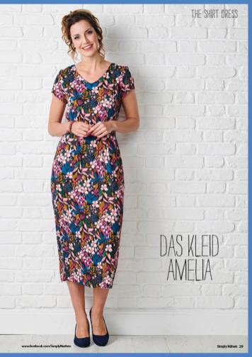 Nähanleitung - Das Kleid Amelia (Version B) - Simply Nähen 02/2020