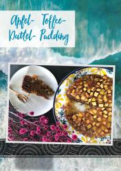 Rezept - Apfel-Dattel-Toffee-Pudding - Vegan Food & Living – 02/2020