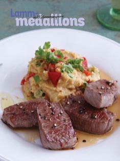 Rezept - Lammmedaillons mit Kichererbsenpüree - Simply Kochen Sonderheft Low Carb