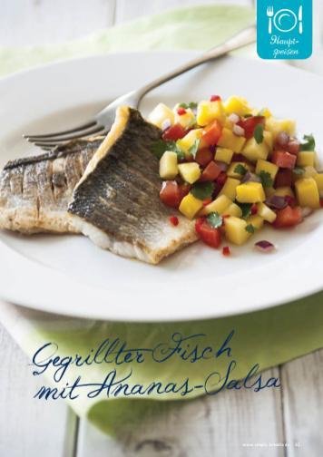 Rezept - Gegrillter Fisch mit Ananas-Salsa - Simply Kreativ Extra – Leckere Ideen für den Thermomix® 01/2020
