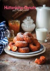Rezept - Hüttenkäse-Donuts mit Puderzucker - Simply Kochen Heißluft-Fritteuse