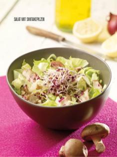 Rezept - Salat mit Shiitakepilzen - Bewusst Low Carb Sonderheft: Fasten – 02/2020