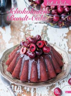 Rezept - Schokoladen-Bundt-Cake mit Kirschen - Simply Backen Kuchen & Kleingebäck – 01/2020