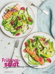 Rezept - Frühlingssalat mit gegrilltem Lachs, Blutorange, Oliven und Quinoa - Simply Kochen Diät-Rezepte für gesunde Ernährung
