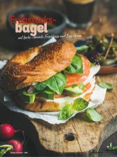 Rezept - Fühstücksbagel mit Lachs, Avocado, Frischkäse und Basilikum - Simply Kochen Diät-Rezepte für gesunde Ernährung