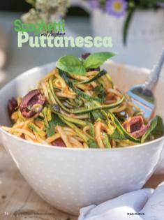 Rezept - Spaghetti Puttanesca mit Zucchini - Simply Kochen Italienische Küche
