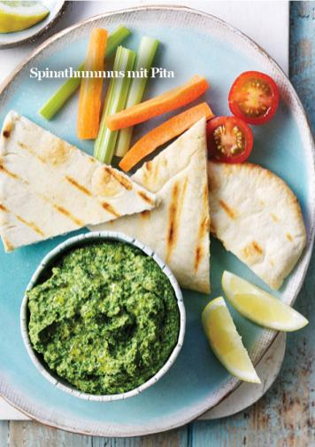 Rezept - Spinathummus mit Pita - Vegan Food & Living – 03/2020