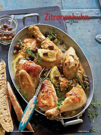 Rezept - Zitronenhuhn mit Oliven - Simply Kochen Italienische Küche