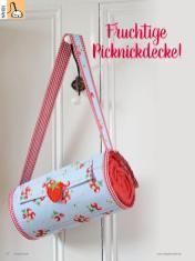 Nähanleitung - Fruchtige Picknickdecke - Simply Kreativ Heft 02/2020
