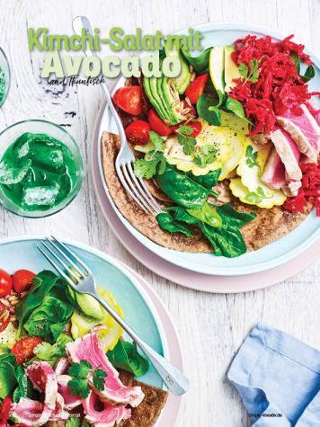Rezept - Kimchi-Salat mit Avocado und Thunfisch - Simply Kochen mit Vorräten 02/2020
