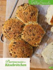 Rezept - Parmesan-Käsebrötchen - Simply Backen Extra Brötchen