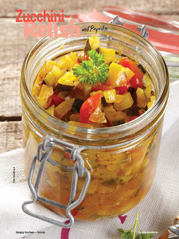 Rezept - Zucchini-Relish mit Paprika - Simply Kochen mit Vorräten 02/2020