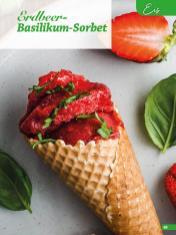 Rezept - Erdbeer-Basilikum-Sorbet - Simply Backen Sonderheft Erdbeeren – 01/2020