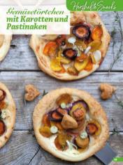Rezept - Gemüsetörtchen mit Karotten und Pastinaken - Simply Backen Blätterteig – 02/2020
