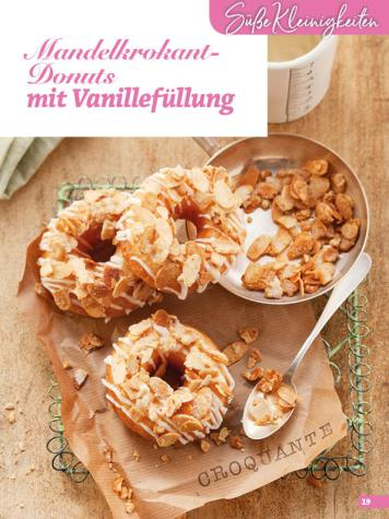 Rezept - Mandelkrokant-Donuts mit Vanillefüllung - Simply Backen Blätterteig – 02/2020