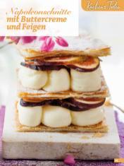 Rezept - Napoleonschnitte mit Buttercreme und Feigen - Simply Backen Blätterteig – 02/2020