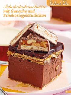 Rezept - Schokoladenschnitte mit Ganache und Schokoriegelstückchen - Simply Backen Blätterteig – 02/2020