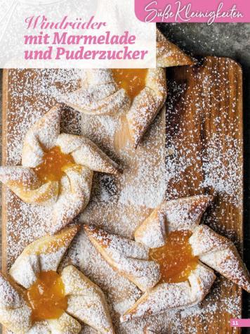 Rezept - Windräder mit Marmelade und Puderzucker - Simply Backen Blätterteig – 02/2020