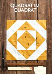 Nähanleitung - Quadrat im Quadrat - Simply Kreativ Patchwork kompakt 01/2020