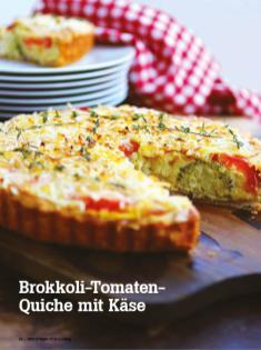 Rezept - Brokkoli-Tomaten-Quiche mit Käse - Vegan Food & Living – 04/2020