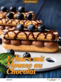 Rezept - Eclairs mit Mousse au Chocolat - Besser Backen mit Tommy Weinz Vol. 2 – 04/2020