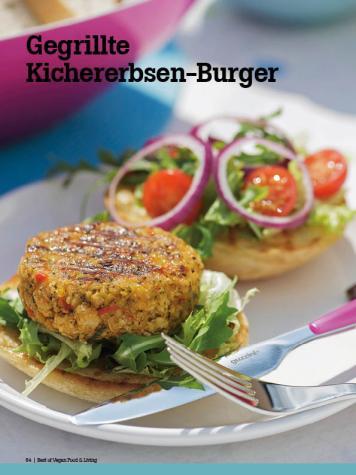 Rezept - Gegrillte Kichererbsen-Burger - Vegan Food & Living – 04/2020
