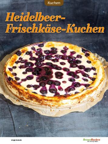 Rezept - Heidelbeer-Frischkäse-Kuchen - Low Carb Backen mit Tommy Weinz – 01/2020