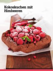 Rezept - Kokoskuchen mit Himbeeren - Vegan Food & Living – 04/2020