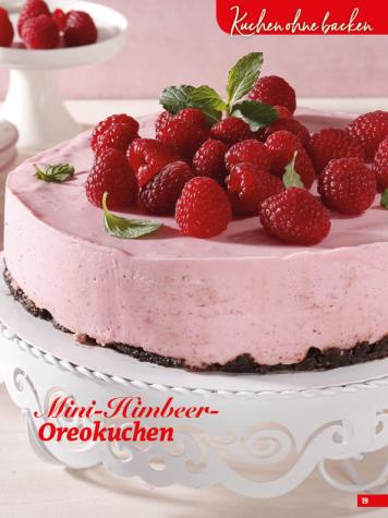 Rezept - Mini-Himbeer-Oreokuchen - Simply Backen Sonderheft Sommertorten – 01/2020