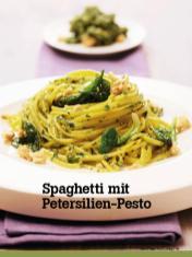 Rezept - Spaghetti mit Petersilien-Pesto - Vegan Food & Living – 04/2020