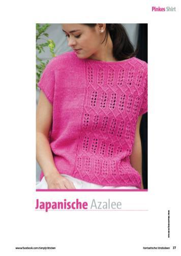 Strickanleitung - Japanische Azalee - Fantastische Strickideen Sonderheft 04/2020
